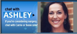 chat with Susie or Elizabeth - if you're considering surgery, chat with Susie or Elizabeth now!