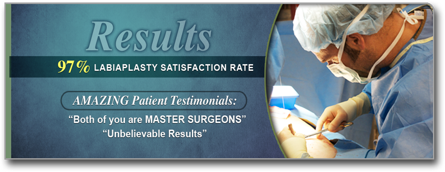 97 percent labiaplasty satisfaction rate